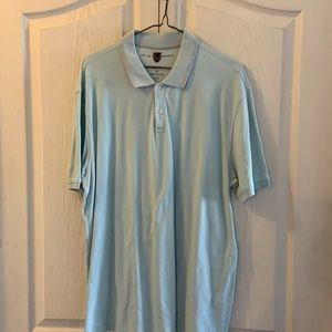 Black brown cotton polo shirt